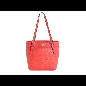 Anne Klein Orange Croc tote bag/purse new